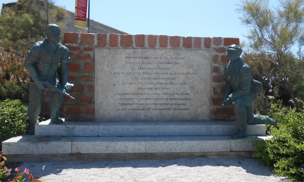 Korzika Balanja spomenik 2. svetski rat prva oslobodjena teritorija Francuske od nacista