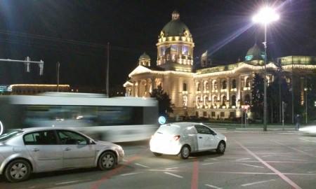 Beograd skupstina Srbije noc